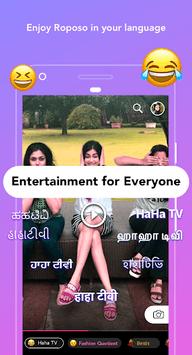 Roposo - Fun Videos, Editing, Chat Status, Camera APK screenshot 1