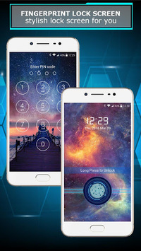 Fingerprint lock screen APK screenshot 1