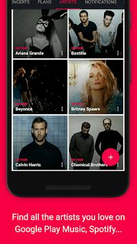 Songkick Concerts APK screenshot 1