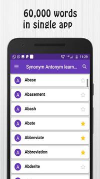 Synonym Antonym Learner APK screenshot 1