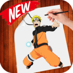 how to draw naruto step by step icon
