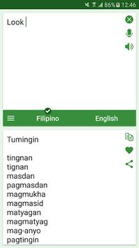 Filipino - English Translator APK screenshot 1