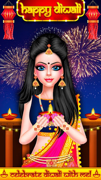 Indian Celebrity Fashion Doll Diwali Celebration pc screenshot 1