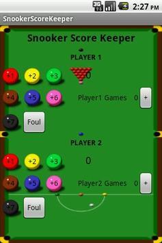Snooker Score Keeper apk screenshot 1