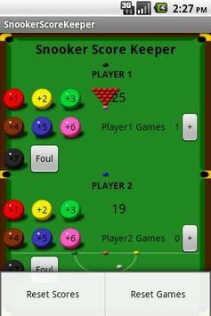 Snooker Score Keeper apk screenshot 2