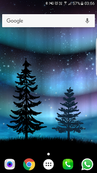 Aurora Free Live Wallpaper APK screenshot 1