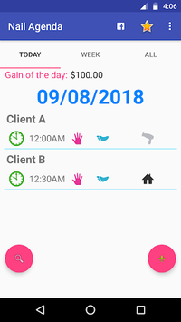 Nail Agenda - Calendar for Manicures APK screenshot 1