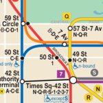 Map of NYC Subway: offline MTA icon