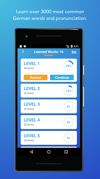 Learn German Words,Verbs,Articles with Flashcards APK screenshot 1