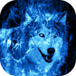 Ice Fire Wolf Wallpaper FOR PC
