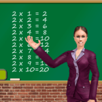 Math Game Kids Education And Learning In school icon