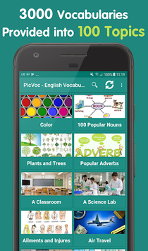 English vocabulary by picture - English words APK screenshot 1