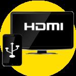 HDMI Connector (mhl/hdmi/usb ScreenMirroring) icon