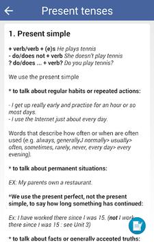 Learn English Grammar Rules - Grammar Test APK screenshot 1
