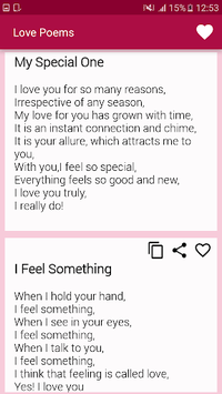 Beautiful Romantic Love Poems For Your Beloved APK screenshot 1