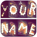 Write your name with shapes–candles photo designer APK icon