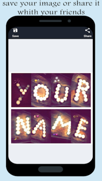 Write your name with shapes–candles photo designer APK screenshot 1