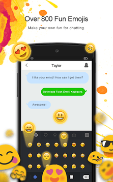 Flash Emoji Keyboard & Themes APK screenshot 1