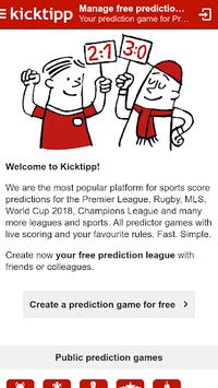 Kicktipp - Sports Predictor game with friends APK screenshot 1