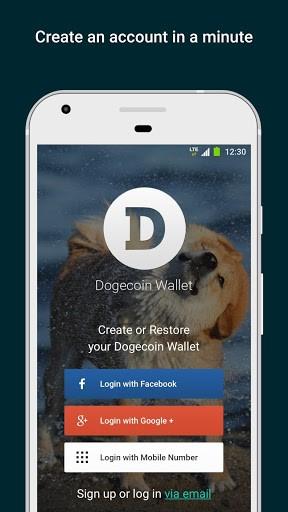 Dogecoin Wallet. Store & Exchange DOGE coin APK screenshot 1