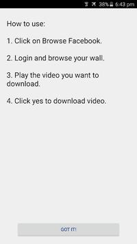 Video Downloader for Facebook APK screenshot 1