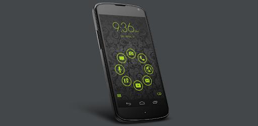 Stamped Holo Green SL Theme pc screenshot