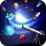 HD telescopes zoom photo and camera icon