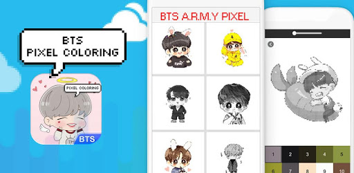 BTS Army Pixel - Number Coloring Books pc screenshot