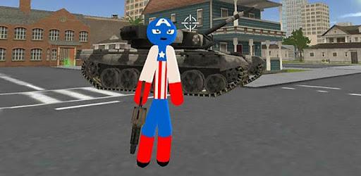 Stickman US Capitaine Rope Hero Gangster Crime pc screenshot