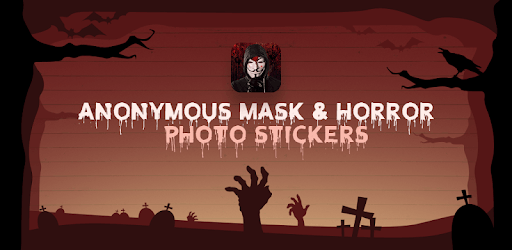 Anonymous Mask & Horror Photo Stickers pc screenshot
