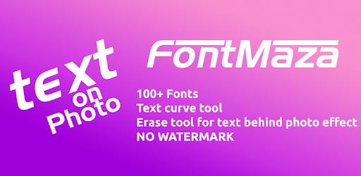 Text on Photo - FontMaza pc screenshot