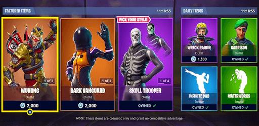 Daily Item Shop - Battle Royale Shop 2019 pc screenshot