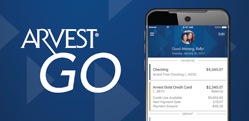 Arvest Go Mobile Banking pc screenshot