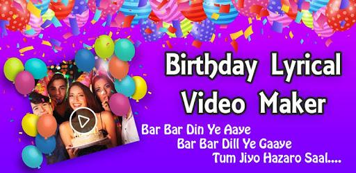 Birthday Lyrical Video Maker pc screenshot