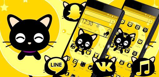 Black Cute Cat Theme pc screenshot