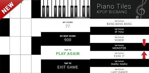 KPOP BIGBANG - Piano Tap Free pc screenshot