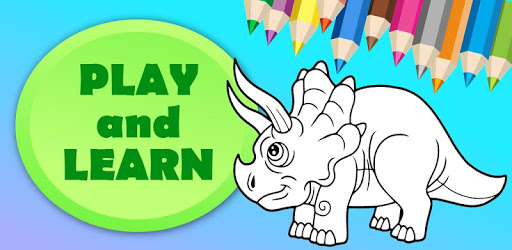 Cute Animated Dinosaur Coloring Pages pc screenshot