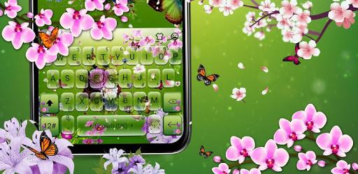 3D Flower Garden Keyboard Theme pc screenshot