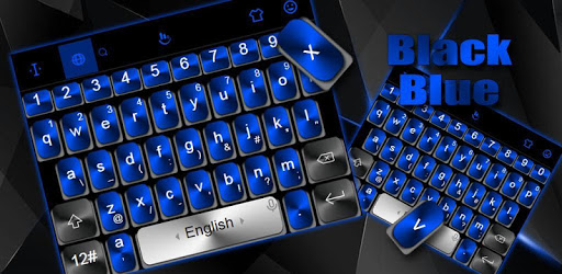 Black Blue Keyboard Theme pc screenshot