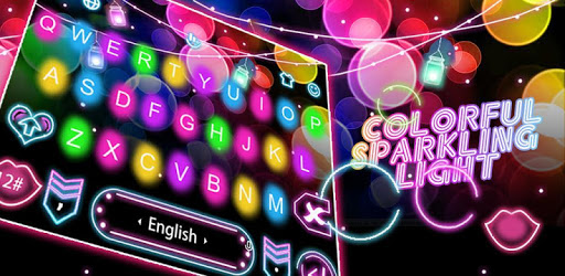 Colorful Sparkling Light Keyboard Theme pc screenshot