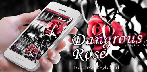 Dangerous Rose Keyboard Theme pc screenshot