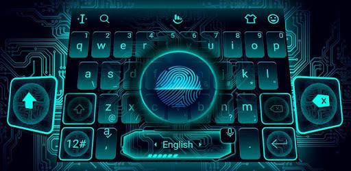 Fingerprint Style Keyboard Theme pc screenshot