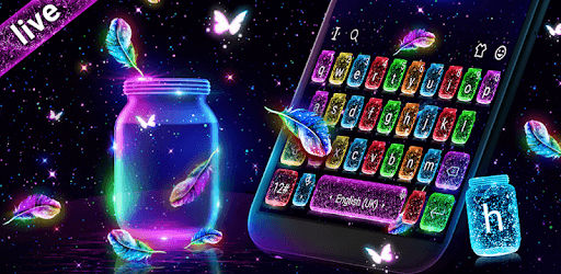 Lovely Live Glitter Bottle Keyboard pc screenshot