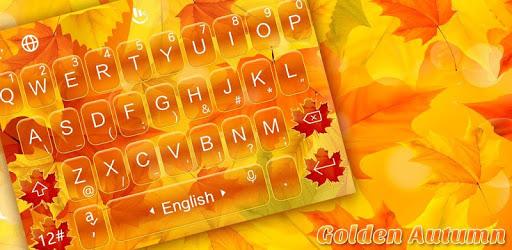 Golden Autumn Keyboard Theme pc screenshot