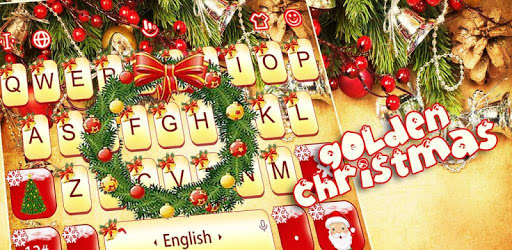 Golden Christmas Keyboard Theme pc screenshot