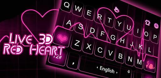 Live Red Heart Keyboard Theme pc screenshot