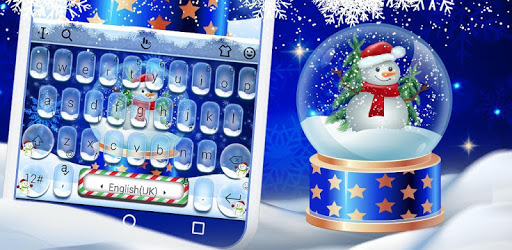 Live Christmas Snow Keyboard Theme pc screenshot