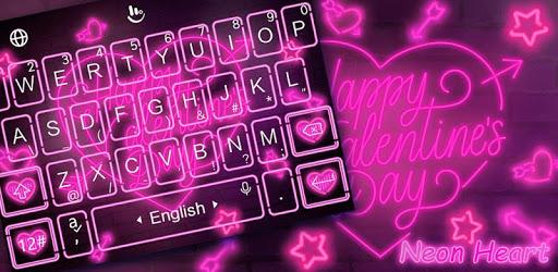 Live Neon Heart Keyboard Theme pc screenshot