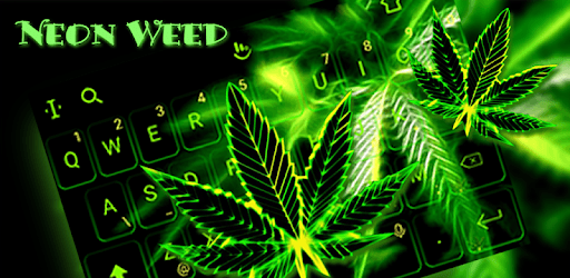 Neon Weed Keyboard Theme pc screenshot