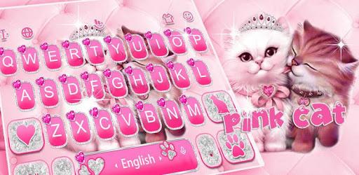 Cute Pink Lovely Cat Keyboard Theme pc screenshot